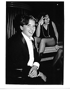 Edward Guinness and Emma Girdlestone. London. 1985 approx. © Copyright Photograph by Dafydd Jones 66 Stockwell Park Rd. London SW9 0DA Tel 020 7733 0108 www.dafjones.com