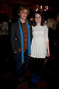 JOHNNY FLYNN; SOPHIE MCSHERA Opening in the West end of the Royal Court's Jerusalem after a run on Broadway..<br /> WAXY O CONNORS, 14-16 RUPERT STREET, LONDON . 17 October 2011.  <br /> <br />  , -DO NOT ARCHIVE-© Copyright Photograph by Dafydd Jones. 248 Clapham Rd. London SW9 0PZ. Tel 0207 820 0771. www.dafjones.com.