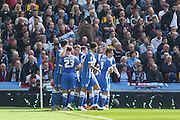 Brighton central midfielder, Dale Stephens (6) celebrates his goal 1-0 during the Sky Bet Championship match between Brighton and Hove Albion and Burnley at the American Express Community Stadium, Brighton and Hove, England on 2 April 2016. Photo by Phil Duncan.
