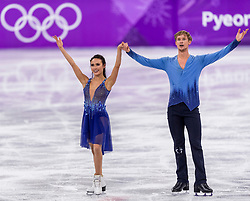 PYEONGCHANG-GUN, SOUTH KOREA - FEBRUARY 20: Madison Chock and Evan Bates of the United States compete in the Figure Skating Ice Dance Free Dance on day eleven of the PyeongChang 2018 Winter Olympic Games at Gangneung Ice Arena on February 20, 2018 in Gangneung, South Korea. Photo by Ronald Hoogendoorn / Sportida