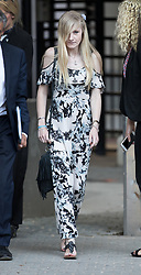 © Licensed to London News Pictures. 25/07/2017. London, UK. CONNIE YATES leaves The The Royal Courts of Justice in London . The parents of terminally ill Charlie Gard have returned to court in an attempt to take their terminally ill son home to die rather than ending his life in hospital. Yesterday a court ruled that Charlie, who suffers from a rare genetic condition known as mitochondrial DNA depletion syndrome, should not be taken to US for further treatment. Photo credit: Peter Macdiarmid/LNP