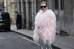 Federica Cavenati arrives at the Ryan Lo Autumn / Winter 2017 London Fashion Week show at 180 Strand, London on Saturday February 18, 2017