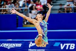 September 14, 2018 - Sofia, Bulgaria - Ekaterina Vedeneeva of Slovenia   during  Individual All-Around Final at the Arena Armeec in Sofia at the 36th FIG Rhythmic Gymnastics World Championships  on 14/9/2018. (Credit Image: © Ulrik Pedersen/NurPhoto/ZUMA Press)