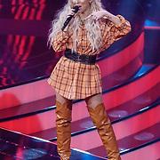 NLD/Hilversum/20190201- TVOH 2019 1e liveshow, optreden Kimberly Fransens