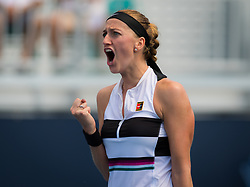 March 23, 2019 - Miami, FLORIDA, USA - Petra Kvitova of the Czech Republic in action during her third-round match at the 2019 Miami Open WTA Premier Mandatory tennis tournament (Credit Image: © AFP7 via ZUMA Wire)