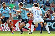 Bernard Foley. Waratahs v Force. 2013 Investec Super Rugby Season. Allianz Stadium, Sydney. Sunday 31 March 2013. Photo: Clay Cross / photosport.co.nz