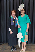17/08/2017 Triona Sweeney from Millars and Winner of the best dressed competition Leanne O'Malley from Maam at the Connemara Pony Show in Clifden. Photo:Andrew Downes, xposure