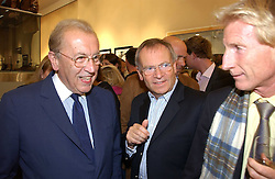 Left to right, SIR DAVID FROST and LORD ARCHER at an exhibition of photographs by Lord Snowdon held at the Chris Beetles Gallery, Ryder Street, London on 18th September 2006.<br /><br />NON EXCLUSIVE - WORLD RIGHTS