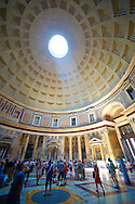 Pantheon. the 2nd century Roman temple to all Roman Gods built by the Emperor Trajan. Now the Roman Catholic  church of St. Mary and the Martyrs. Rome .<br /> <br /> Visit our ITALY HISTORIC PLACES PHOTO COLLECTION for more   photos of Italy to download or buy as prints https://funkystock.photoshelter.com/gallery-collection/2b-Pictures-Images-of-Italy-Photos-of-Italian-Historic-Landmark-Sites/C0000qxA2zGFjd_k<br /> .<br /> <br /> Visit our ROMAN ART & HISTORIC SITES PHOTO COLLECTIONS for more photos to download or buy as wall art prints https://funkystock.photoshelter.com/gallery-collection/The-Romans-Art-Artefacts-Antiquities-Historic-Sites-Pictures-Images/C0000r2uLJJo9_s0