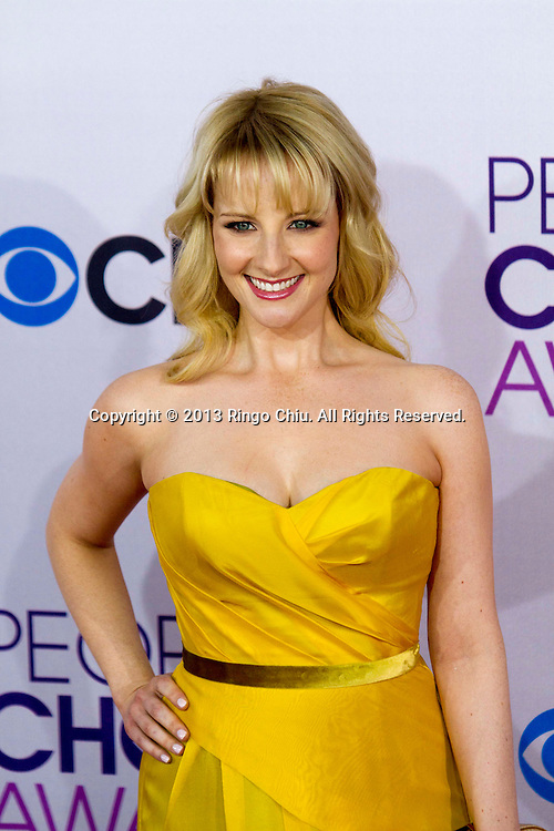 Melissa Rauch arrives at the 39th Annual People's Choice Awards at Nokia Theatre L.A. Live on Wednesday January 9, 2013 in Los Angeles, California, United States. (Photo by Ringo Chiu/PHOTOFORMULA.com)