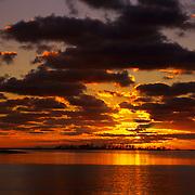 Dramatic sunrise over Bush Key in Dry Tortugas National Park, FL.