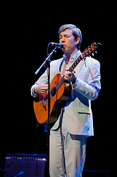 © licensed to London News Pictures. London, UK. Bill Callahan at the Barbican in London on May 9, 2011.  Please see special instructions for usage rates. Photo credit should read Marcia Petterson/LNP