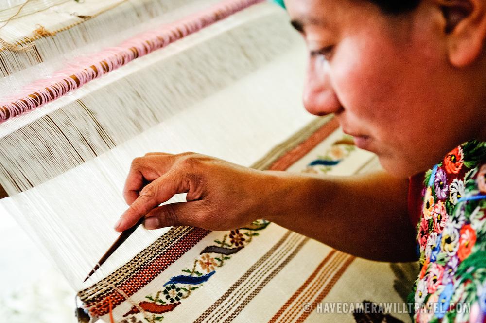 at Casa del Tejido Antiguo, an indigenous textile museum and market in Antigua, Guatemala