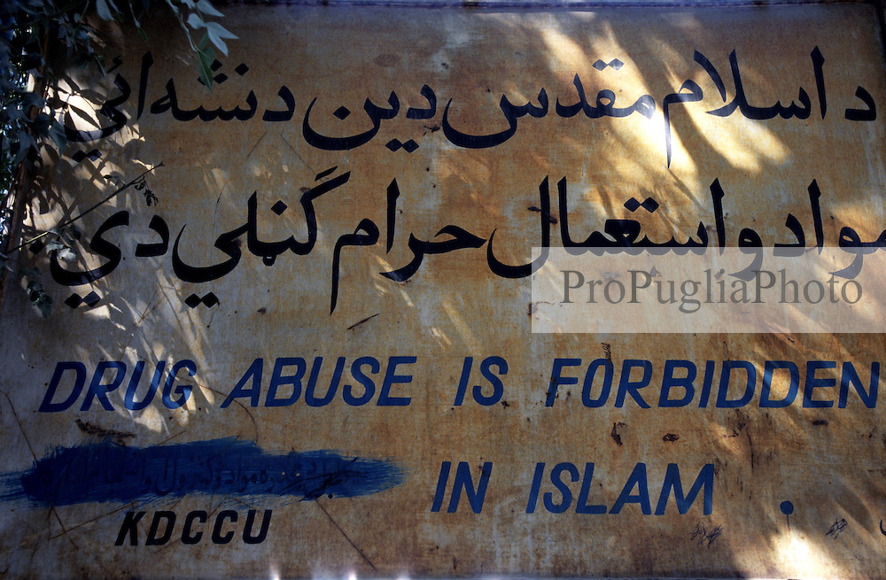 An old warning sign in Kabul...