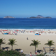 A beach scene at Ipanema beach, Rio de Janeiro,  Brazil. 4th July 2010. Photo Tim Clayton....