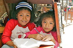 Young Girls At Pisco Market