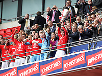 Johnstone's Paint Trophy Final - 07/04/2013 - <br /> Wembley Stadium - Crewe Alexandra vs Southend United<br /> Crewe's Luke Murphy lifts the trophy