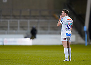 Exeter Chiefs fly-half Joe Simmonds during a Gallagher Premiership Round 11 Rugby Union match, Friday, Feb 26, 2021, in Eccles, United Kingdom. (Steve Flynn/Image of Sport)