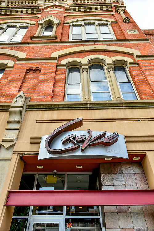 Look up the building at Crave restaurant.