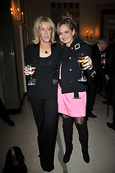 Left to right, LADY COSIMA SOMERSET and COUNTESS MAYA VON SCHONBURG at a party to celebrate the publiction of 'No Invitation Required' by Annabel Goldsmith, held at Claridge's, Brook Street, London on 11th November 2009.