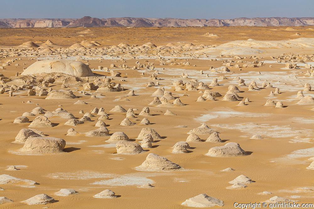 """El-Khiyam """"The Tents"""", (Chalk Rockforms) Sahara Beida (White Desert), Egypt"""