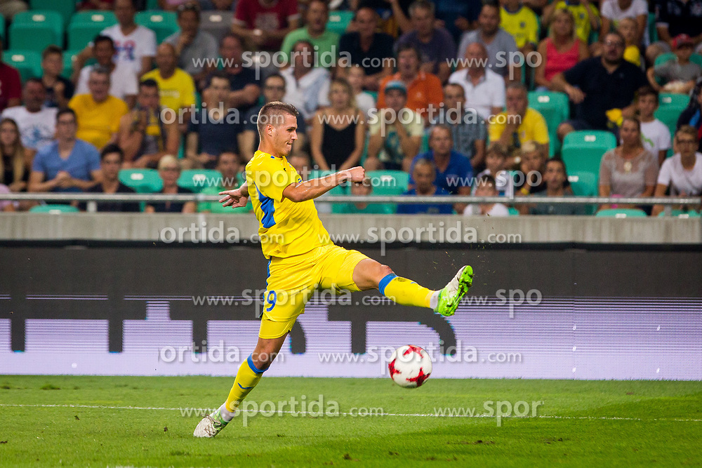 Lovro Bizjak of NK Domzale during football match between NK Domzale and Olympique de Marseille in First game of UEFA Europa League playoff round, on August 17, 2017 in SRC Stozice, Ljubljana, Slovenia. Photo by Ziga Zupan / Sportida