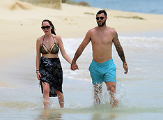 Southampton striker Charlie Austin spotted on the beach in Barbados - 25 May 2017