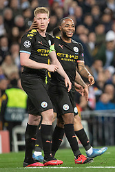 Manchester City's Kevin de Bruyne celebrates goal during the UEFA Champions League round of 16 first leg match Real Madrid v Manchester City at Santiago Bernabeu stadium on February 26, 2020 in Madrid, Sdpain. Real was defeated 1-2. Photo by David Jar/AlterPhotos/ABACAPRESS.COM