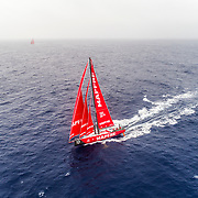 Leg 6 to Auckland, day 06 on board MAPFRE, drone shot with Dongfeng in the background. 12 February, 2018.