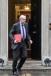 Downing Street, London, January 31 2017. Work and Pensions Secretary Damian Green leaves 10 Downing Street following the weekly meeting of the UK cabinet.