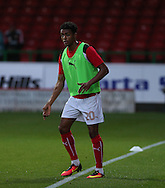 Darnell Anthony Furlong (20 )warming up during the EFL Trophy match between Swindon Town and U23 Chelsea at the County Ground, Swindon, England on 13 September 2016. Photo by Gary Learmonth.