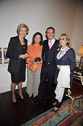 Left to right,  The Groucho Club managing director MARGARET LEVIN, STEFA HART, TIM GOSLING and NINA CAMPBELL at a party to celebrate the publication of Gosling - Classic Design for Contemporary Interiors by Tim Gosling held at William Kent House, The Ritz Hotel, London on 1st October 2009.