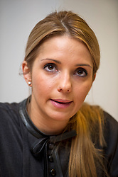 © London News Pictures. 05/11/2012. London, UK.  EUGENIA TYMOSHENKO, daughter of former Ukrainian prime minister Yulia Tymoshenko, speaking at a press conference in London on November 05, 2012 about the  imprisonment of her mother. A Ukrainian court sentenced Yulia Tymoshenko to seven years in prison after she was found guilty of abuse of office. Photo credit: Ben Cawthra/LNP.