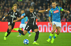 .Paris Saint-Germain's French forward Kylian Mbappe during the UEFA Champions League Group C football match between Paris Saint-Germain and SSC Napoli at the Parc des Princes stadium, in Paris, on October 24, 2018. Photo by Christian Liewig/ABACAPRESS.COM