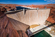 Glen Canyon Dam, Glen Canyon National Recreation Area, Page, Arizona USA