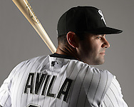 GLENDALE, ARIZONA - FEBRUARY 27:  Alex Avila #31of the Chicago White Sox poses for a portrait during photo day on February 27, 2015 at Camelback Ranch in Glendale Arizona.  (Photo by Ron Vesely)    Subject:  Alex Avila