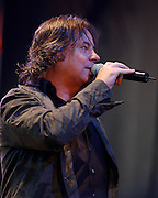 Runrig Live at Edinburgh Castle Esplanade 2008<br /> <br /> 26/07/08<br />  Runrig Lead singer Canadian Bruce Guthro Wow'sthe crowd with Old favouites and new song's from the Everything You See Album. At  Edinburgh Castle tonight,  Edinburgh.<br /> <br /> Picture by Mark Davison/ Universal News & Sport