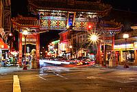 Paifang (Arch), Chinatown, Victoria, British Columbia, Canada