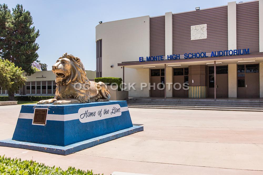El Monte High School Auditorium and Mascot Monument