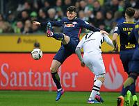 v.l. Oliver Jasen Burke, Oscar Wendt (Gladbach)<br /> Moenchengladbach, 19.02.2017, Fussball, Bundesliga, Borussia Moenchengladbach - RB Leipzig 1:2