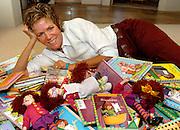 "Barbara Park, author of ""Junie B"" children's books, poses at her home in Scottsdale, Arizona, USA."