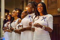 Melissah S. Berry.  Ten graduates of the University of the Virgin Islands School of Nursing commemorated their graduation with a pinning ceremony and lighting of candles while surrounded by nursing alumni, family, and friends.  University of the Virgin Islands School of Nursing 2015 Pinning Ceremony.  St. Thomas Reformed Church.  St. Thomas, VI.  12 May 2015.  © Aisha-Zakiya Boyd