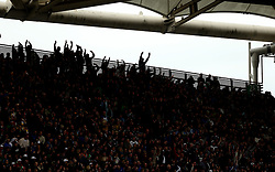 Fans in the stand during the NatWest 6 Nations match at the Stadio Olimpico, Rome.