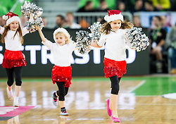 Mini Dragon Ladies perform during basketball match between Slovenian football and basketball Legends at All-Stars Stozice 2014, on December 28, 2014 in Arena Stozice, Ljubljana, Slovenia. Photo by Vid Ponikvar / Sportida