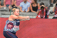 Alexandra Tavernier (FRA) competes in Hammer Throw Women during the European Championships 2018, at Olympic Stadium in Berlin, Germany, Day 4, on August 10, 2018 - Photo Photo Julien Crosnier / KMSP / ProSportsImages / DPPI