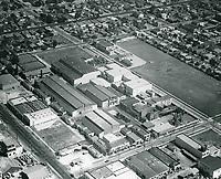 1931 Aerial of Hollywood Studios on Santa Monica Blvd.