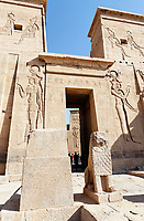 view of the Philae temple in aswan upper egypt