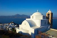 Grece, Cyclades, ile de Milos, ville de Plaka capitale de Milos, eglise Ipapanti // Greece, Cyclades islands, Milos, Plaka city the island capital, Ipapanti church