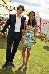 KONSTANTIN VON BISMARCK and SALONI LODHA at the Cartier Queen's Cup Polo Final, Guards Polo Club, Windsor Great Park, Berkshire, on 17th June 2012.
