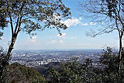view from Meiji no Mori Takao Quasi-National Park with Tokyo in the distance Japan Hachioji prefecture